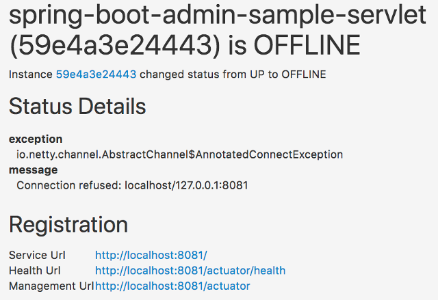 Spring Boot Admin Reference Guide